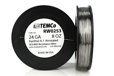 TEMCo Kanthal A1 wire 24 Gauge 8 oz (509 ft) Resistance AWG A-1 ga