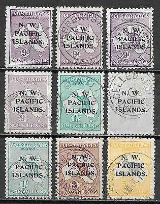 N.W.Pacific Islands stamps Collection of 9 stamps  CANC  VF  HIGH VALUE!