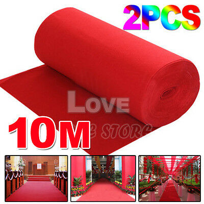 2x 5*1m Red Carpet Wedding Party Decoration Runner Hollywood Awards Night Casino