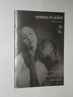 Stephen Joseph Theatre In The Round Scarborough Programme Romeo & Juliet 1994.