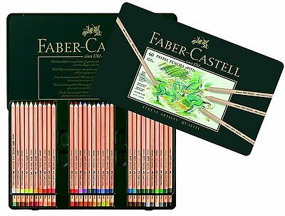 Faber Castell Pitt Pastel Pencils Tin Of 60