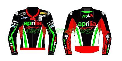 Aprilia Racing 2015 Motogp Motorbike Racing Leather Jacket CE Approved Armor