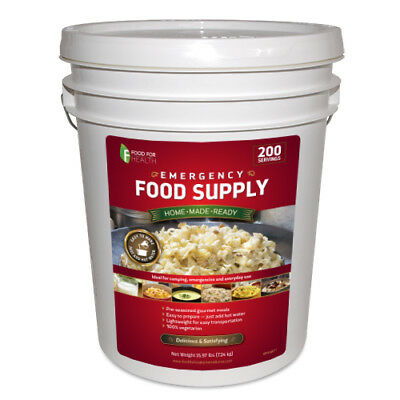 New Food for Health Emergency Survival Food Supply - 200 servings, Free Shipping
