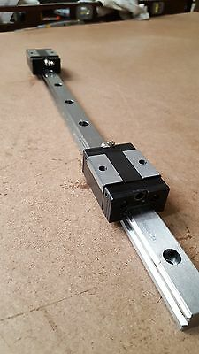 PMI MSB25R Precision Linear Bearing Guideway 533mm w/2 blocks