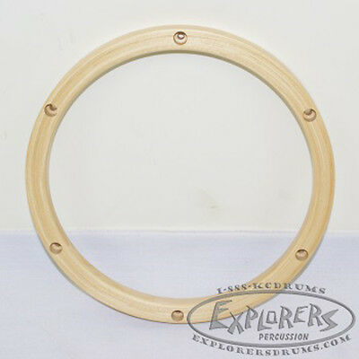 "Wood Drum Hoop 10"" 6 Lug 24 ply Wood Rim"