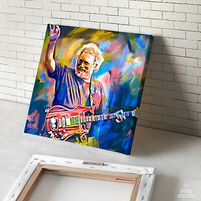 JERRY GARCIA Grateful Dead guitar painting CANVAS ART PRINT (Mounted)