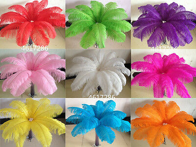 Wholesale 10-200pcs High Quality Natural OSTRICH FEATHERS 6-16'inch/15-40cm