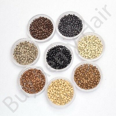 Copper Nano Micro Rings Beads for use W/ Nano Hair Extensions 200 400 1000