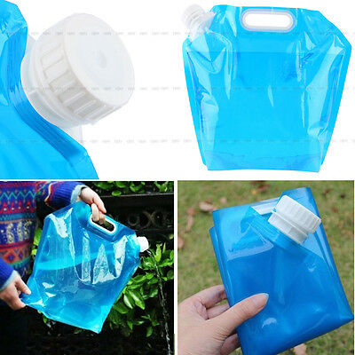 10L Folding Drinking Water Storage Lifting Bag For Camping Hiking Picnic BBQ