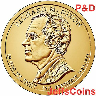 2016 P&D Richard M Nixon Presidential Golden Dollars Best Price PD 2 Coins 16PG