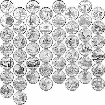 1999-2008 US State Quarters Complete Uncirculated Collectible Set 50 coins