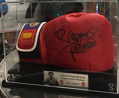 Manny Pacquiao Signed Glove In Display Case