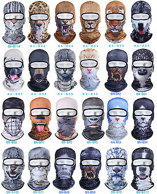 3D Animal Thin Outdoor Party Cycling Ski Hat Balaclava Motorcycle Full Face Mask