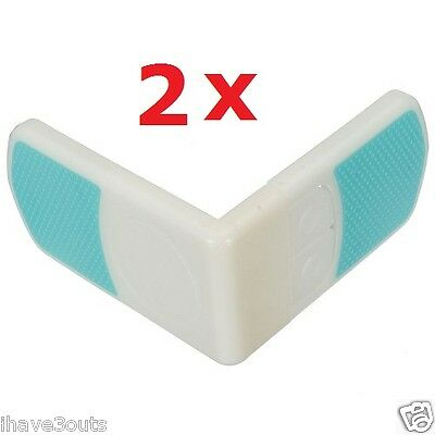 2 x Angled Child Safe Toddler Cupboard Bands Baby Drawers Lock Fridge Door Locks