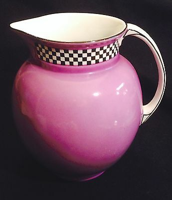 Royal Staffordshire Pottery - Wilkinson England - Lavender checker- XL Pitcher