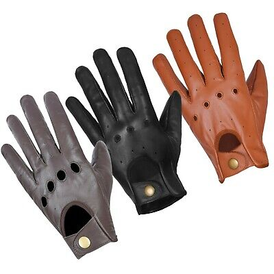 MENS REAL GENUINE ANILINE LEATHER CLASSIC DRIVING And FASHION GLOVES