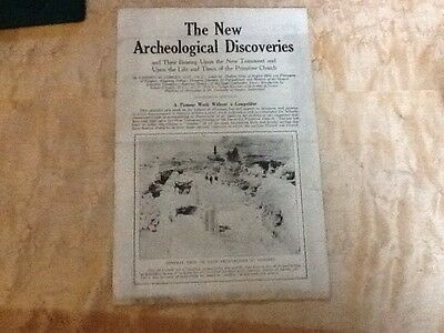 Vintage ephemera pamphlet New Archeological Discoveries Archaeology Rare