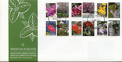 Bermuda 2015 FDC Bermuda in Bloom Part II 6v Set Cover Flowers Flora