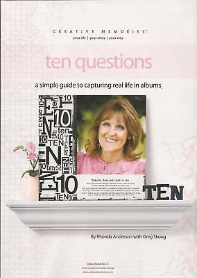 CREATIVE MEMORIES 10 Questions IDEAS BOOK guide to capturing real life in albums