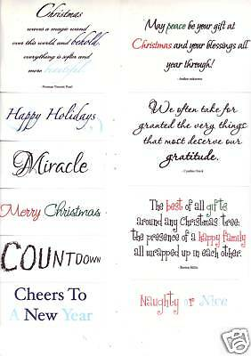 Creative Memories EXPRESSIONS OF THE HOLIDAYS Vellum Scrapbooking Quotes Sayings