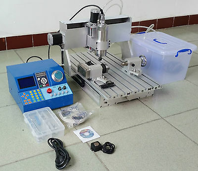 4 AXIS 1.5KW CNC 3040 Router Milling Engraving Machine Wood Metal Carving