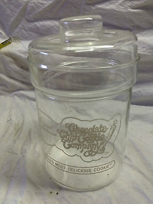 Glass cookie jar from the Chocolate Chip Cookie Company  (shelfA#4)