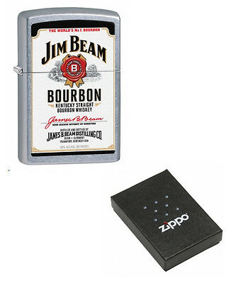 Jim Beam Bourbon Emblem Chrome Zippo Cigarette Lighter Engraved Free