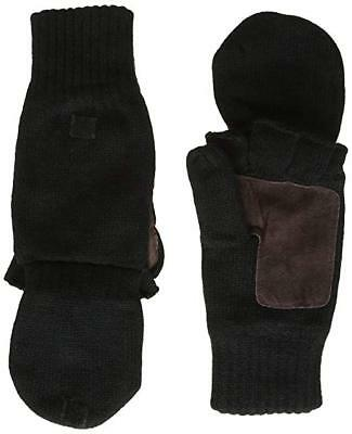 Highlander falher thinsulate shooting fishing mitts glove with flap M Black