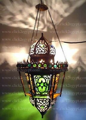 B6 Antique Reproduction Art Deco Handmade Egyptian Hanging Lamp
