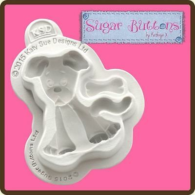 Sugar Buttons Cupcake Fondant Icing Embellishment Topper Mould: Dog