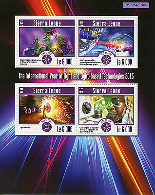 Sierra Leone 2015 MNH International Year of Light 4v M/S NASA Laser Surgery