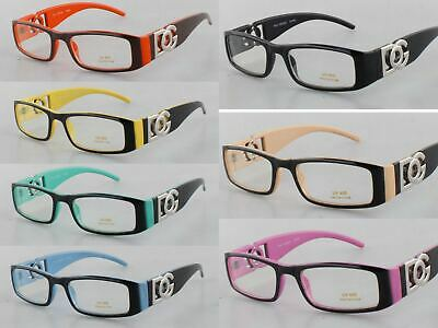 new dg clear lens rectangular frames glasses designer optical rx womens nerd