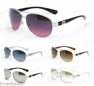 New DG Eyewear Fashion Retro Aviator Designer Sunglasses Shades Men Women Black