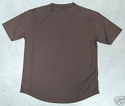 THREE x NEW Army Issue Brown Coolmax T Shirt Size 118cm X Large - (Pack of 3)
