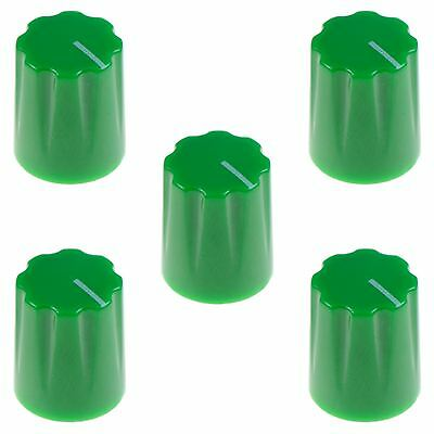 "5 x Green Davies 1900H Style 1/4"" 6.35mm Guitar Potentiometer Knob"