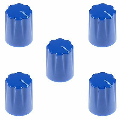 "5 x Blue Davies 1900H Style 1/4"" 6.35mm Guitar Potentiometer Knob"