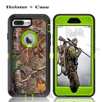 For iphone 7 / 8 plus Defender Case (Belt Clip Fits Otterbox) Camouflage