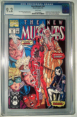New Mutants #98 CGC 9.2 1st APPEARANCE OF DEADPOOL White Pages Marvel 1991