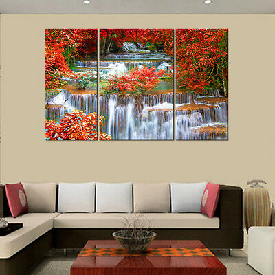 HD Canvas Prints Home Decor Wall Art Painting-Mangrove Waterfall Unframed #L44