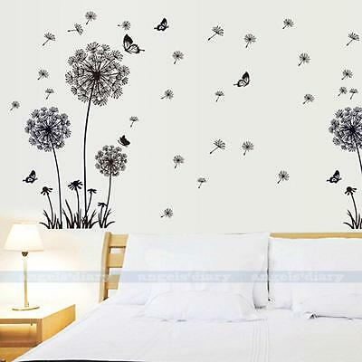 Dandelion Flower Removable Vinyl Art Quote Wall Sticker Decal DIY Home Decor