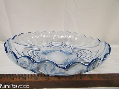"""Cambridge CAPRICE MOONLIGHT BLUE Round 13"""" Bowl 3 Footed"""