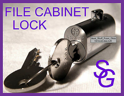 File Cabinet Lock - Sargent & Greenleaf® - Factory New - With Two Keys