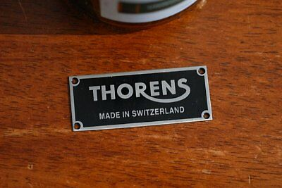 Thorens Switzerland Badge for Thorens custom Plinth SS