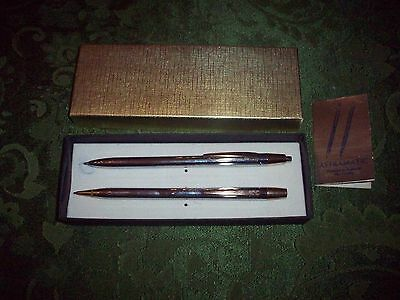 Vintage Astramatic  Ballpoint Pen & Pencil Set Mint With Original Box No Reserv