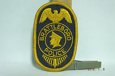 Brattleboro Vermont Police Patch Sew-on