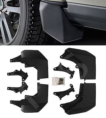 Land Rover Discovery 4 2010+ Front & Rear Mudflap Set Mud Flaps Kit Mudguards