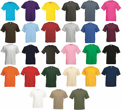 5 Pack Men's Fruit of The Loom Plain Valueweight Crew Neck Tee Shirt T-Shirt New