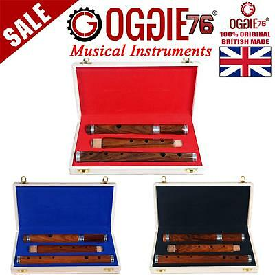 Irish D Flute 4 Part Rosewood 26 Professional Oggie76 Uk With Wooden Hard Case
