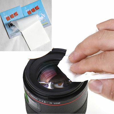 3x 50 Sheets Soft Camera Lens Optics Tissue Clean Paper Wipe Booklet White Hot