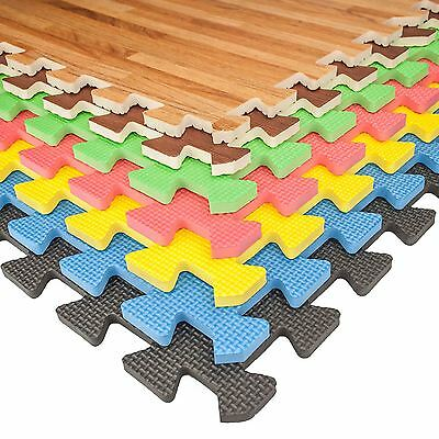 Eva Soft Foam Interlocking Floor Mats Exercise Gym Kids Play Mat Garage Office